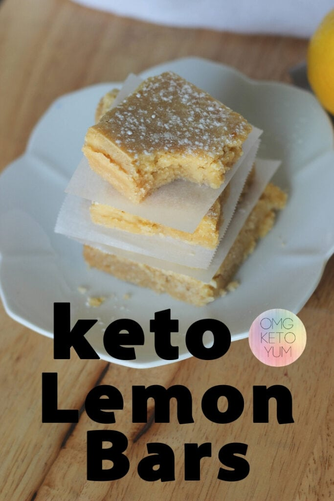 Low Carb Lemon Bars. Make the best keto desert bar ever! These keto lemon bars are sweet from the shortbread crust to the lemon topping. Keep your keto diet intact while enjoying sugar free desserts!
