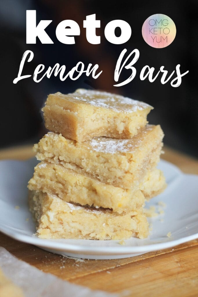 Keto Lemon Bars with a shortbread crust. These sugar free desserts are amazing and taste just like the original. Make these sugar free desserts for your next keto BBQ or church gathering. A Keto Classic Dessert without the sugar!