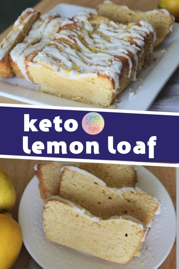 Low Carb Lemon Loaf that tastes like a bite of sunshine! Make this keto lemon loaf or keto lemon pound cake today and keep it keto. This Keto Dessert is perfect for low carb and keto diets. Make the keto starbucks copycat iced lemon cake!