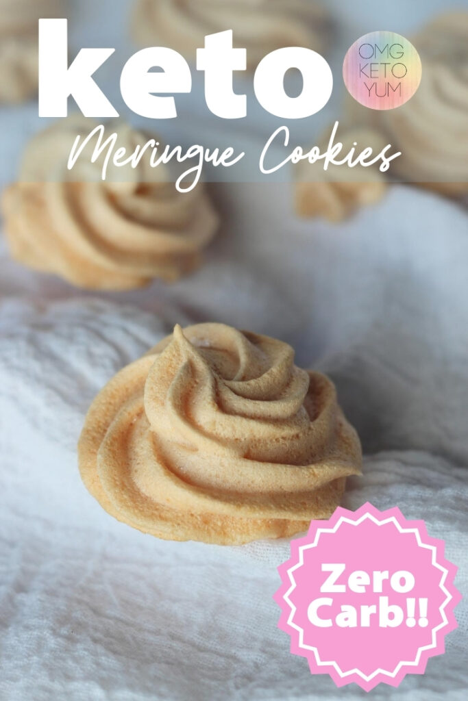 These zero carb cookies are keto and so good! You will love the light crunch on the outside and did I say before that they are ZERO carbs?